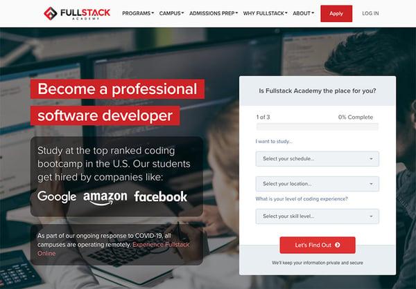 Fullstack-Academy-homepage