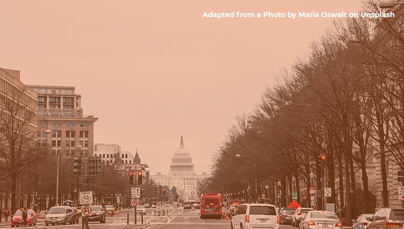 Scene of capitol building in DC