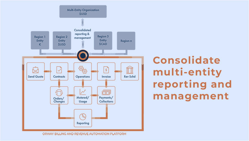 Process of consolidating multi-entity reporting and management